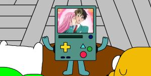 Rosario + Vampire on Beemo by ian2x4