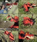 Needle Felted Monstrous Nightmare by SnowFox102
