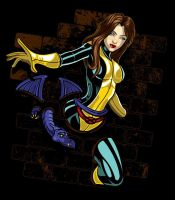 Shadow Cat aka Kitty Pryde by nosmallvictories