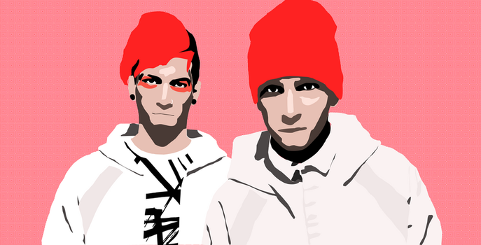 twenty-one-pilots vector completed for Deviant art by Lemons-are-my-Bane