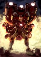Trans-Atmospheric Iron Man by chukw