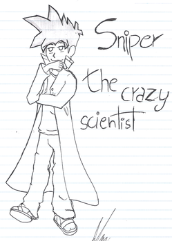 Snipe, the crazy scientist by MarcosLines