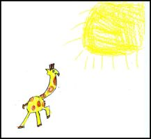 The Giraffe Loves the Sun by kenzie97