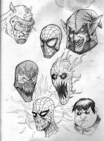 Revamped Spidey n foes by Scadilla