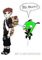 WIP-GIR and Gaara's... Peanut? by Depsycho