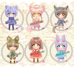 Chibi set prices closed by isabelFenix
