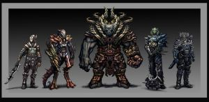 the line up by pencil206