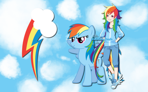 Human Rainbow Dash WP by AliceHumanSacrifice0