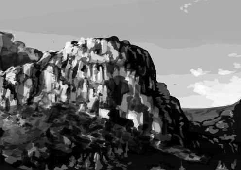 Place of Rocks by creatureart