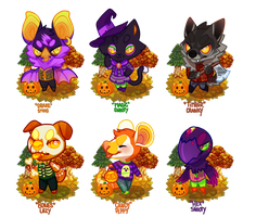 Halloween AC Villagers - CLOSED by gatorstooth