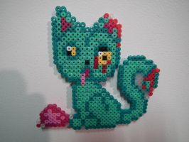Zombie Cat Magnet by blargofdoom