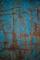 blue rusty scratches by JensStockCollection