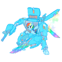 Rainbow Dash My little Mecha WIP by NekoKawaii11