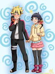 Himawari and Bolt Commission 2 by shock777