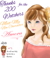Thanks for the 200 Watchers: Meet Amora by Angeli-The-Icefairy