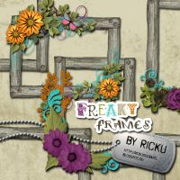 Digital Scrapbooking - Freaky Frames Elements by Rickulein