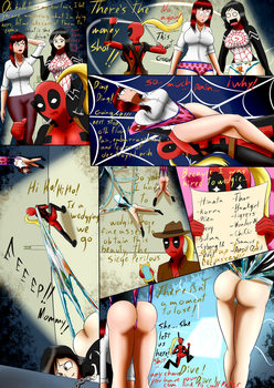 Lady deadpool wedgies MJ and Silk. by the-killer-wc
