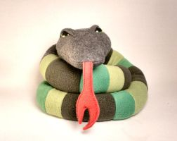 Stitch the FOUR FOOT long Scrappy Snake Plush by Saint-Angel