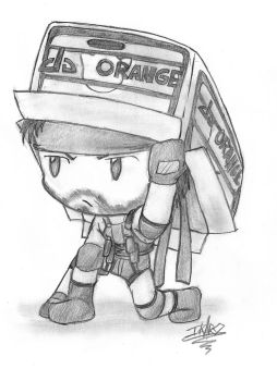 Commission by art-ikaro: Chibi Snake by luke-crowe