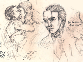 Phantom of the Opera sketches by Patmai