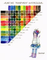 Watercolour mixing chart by flying-bagel