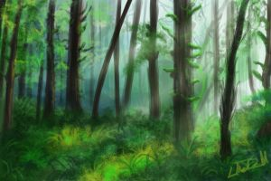 Speedpaint: Forest 001 by hydraa