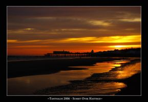 Sunset over Hastings by Tanthalos