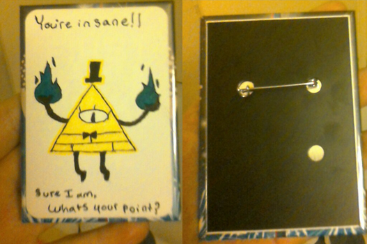 Bill Cipher Button by MrBoogeyman