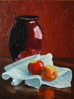 Still Life With Red Vase by Hareguizer