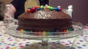 Cake decorated with MandMs by LexC7