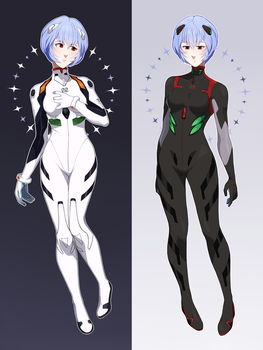 Rei Ayanami by uixela