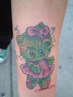 zombie hello kitty by tattooistgus