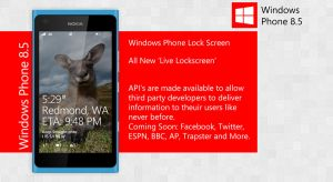 7. Windows Phone 8.5 Live Lockscreen by ShadyLaneDesigns