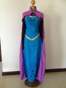 Elsa's coronation dress (front with cape) by cilia9