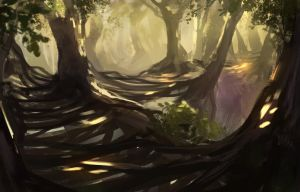 Jungle bridge spitpaint by JordyLakiere