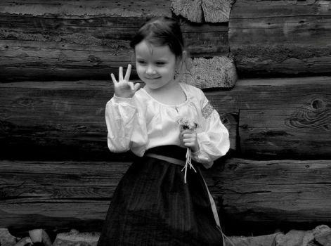 girl in ruthenian folk costume by invariante