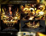 Golden Night Flyer Template by ranvx54