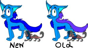 Zeke Color Schemes-New and Old by Sophie-The-Skunk