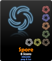 Spore Neon Icons by hackcypher