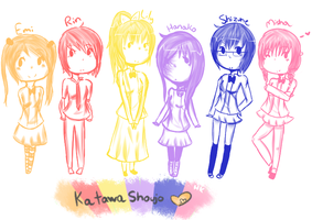 Katawa Shoujo Girls. by rilakkumaharu