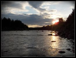 River by Sunset by Digger36