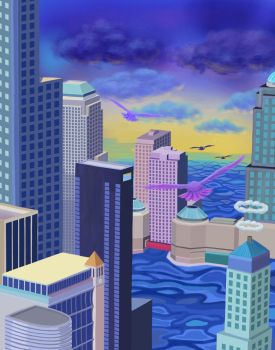 City in the Water by Iyuki7