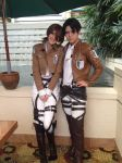 Isabel and Levi (Reika) cosplay at yaoi con 2014 by odieluvnikki