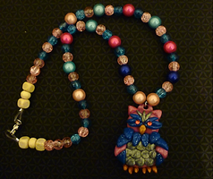 Beaded Owl Necklace by Lucky101212