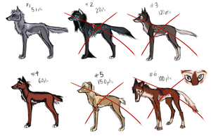 Canine Point Adoptables  2 LEFT by LttleGhost