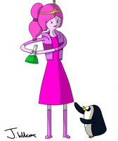 adventure time Princess Bubblegum and Gunter part1 by wilcox6