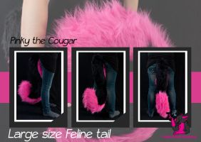 Large feline tail - pinky by FurryFursuitMaker