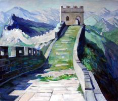 Oil Painting Sketch Great Wall by sabrina-karas