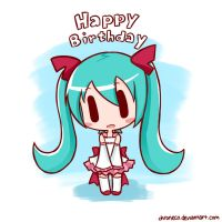 HBD Miku by chroneco