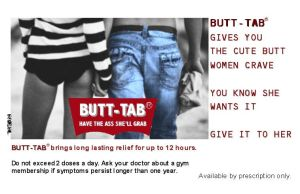 Butt-Tab: a pill for men by Eat-Sith